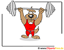 Sport clipart gewichtheffer gratis