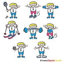 Sportarten Bilder - Cliparts für Schule