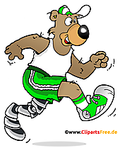 Olahragawan Dengan Menjalankan Prostesis Clipart, Ilustrasi, Gambar