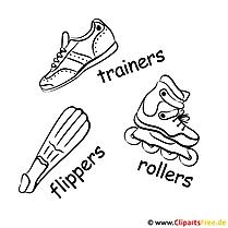 Sportschuhe, Inliner, Flossen - Sport Bilder kostenlos