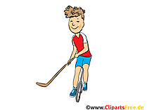 Street-Hockey-Ball Cartoon, Clipart, Bild, Comic, Illustration