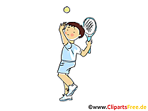 Tennis Bild, Sport Clipart, Comic, Cartoon, Image gratis