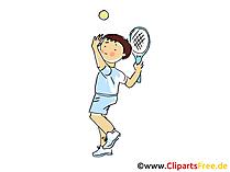 テニスのイメージ、スポーツのクリップアート、漫画、漫画、Image for Free