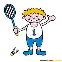 Tennis cartoon afbeelding gratis