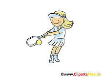 Tennis spielen Bild, Cliparts Sport, Comic, Cartoon, Image gratis