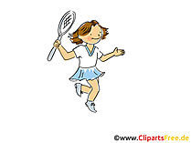 Tennisspielerinn Bild, Cliparts Sport, Comic, Cartoon, Image gratis