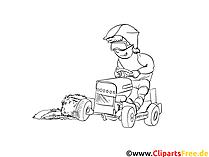 Traktor Treck Extremsport Malvorlage