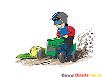 Trecker Treck Clipart, Bild, Cartoon, Comic, Illustration