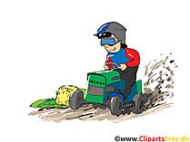 Tracker Trek Clipart, Afbeelding, Cartoon, Strip, Illustratie