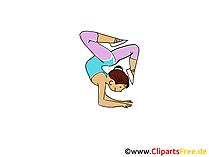 Jimnastikçi Görüntü, Spor Vektör, Çizgi Film, Çizgi Film, Ücretsiz Resim