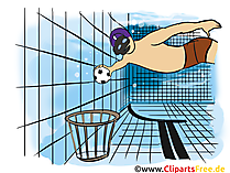 Unterwasser-Rugby, Unterwasserrugby Grafik, Illustration, Bild, Cartoon