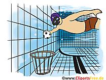 Onderwater rugby, onderwater grafisch rugby, illustratie, beeld, beeldverhaal
