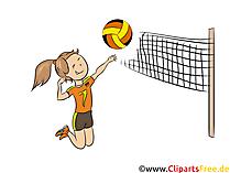 Volleyball spielen Clipart