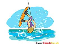 Wakeboard Clipart, resim, çizgi film, çizgi roman, illüstrasyon