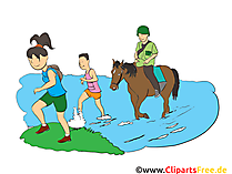 Wandern Clipart, Bild, Cartoon, Comic, Illustration