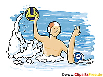 Wasserball Grafik, Illustration, Bild, Cartoon, Image