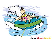 水観光グラフィック、イラスト、イメージ、漫画、イメージ