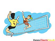 Wie Tennis – nur mit den Füssen Fusstennis Bild, Clipart, Illustration