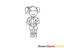 Bask topu eğitimi çizimi, resim