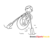 Padeln Zeichnung, Bild, Clipart, Grafik