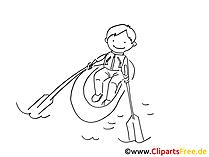 Padeln-tekening, afbeelding, clip-art, grafisch