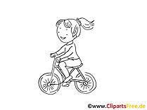 Fahrradrennen Bild, Clipart, Zeichnung