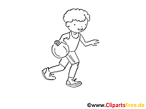 Ball spielen Bild, Grafik, Zeichnung