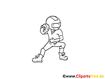 Football Comic, Cartoon, Pic, Image black and white