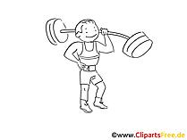 Fitness Bild. Grafik, Clipart