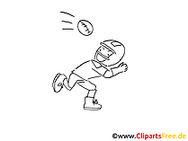 American Football coloring sheet free