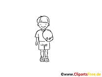 Fussballschiri Zeichnung schwarz-weiss, Bild, Clipart, Comic, Cartoon zum Ausmalen