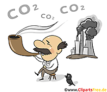 CO2 Bild, Clipart, Plakat, Illustration