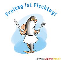 金曜日は魚の日 - 面白い画像、漫画、クリップアート、ポスター、イラスト