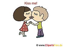Liebesbilder mit Sprüchen - Kiss me!