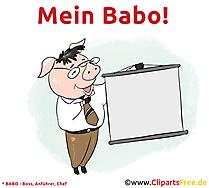 Lustige Bilder mit Sprüchen Mein Babo - Boss, Anführer, Chef