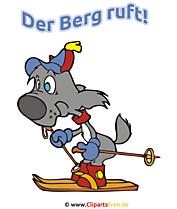 Lustige Sprüche für Skizeit - Der Berg ruft!