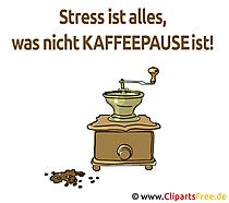 ストレスはコーヒーブレークではないすべてです - おかしいことわざ