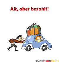漫画画像としての車についての面白いことわざ