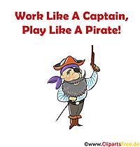 船長のように働く海賊のように遊ぶ印刷画像