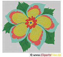 Blume Stick Vorlage kostenlos