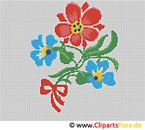 Blumen Sticken Vorlagen