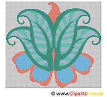 Blumen Stickvorlagen kostenlos Kreuzstich