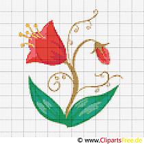 Kreuzstichvorlagen Blumen