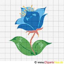 Sticken Vorlagen Blumen - Kornblume