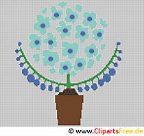 Stickerei für Textilien Vorlage Bild zum Ausdrucken