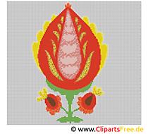 Stickmuster Blume