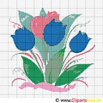 Stickmuster Tulpen