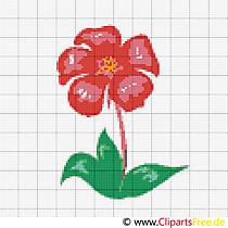 Stickvorlagen Blumen