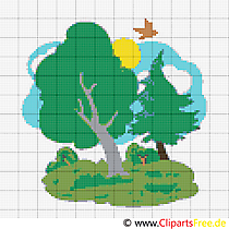 Cross Stitch free template Wood