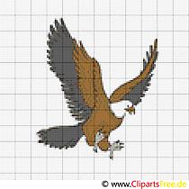 Kostenlose Stickvorlagen Vogel Adler